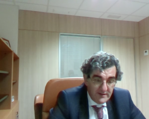 Juan Abarca, en un momento de la entrevista realizada por videoconferencia.