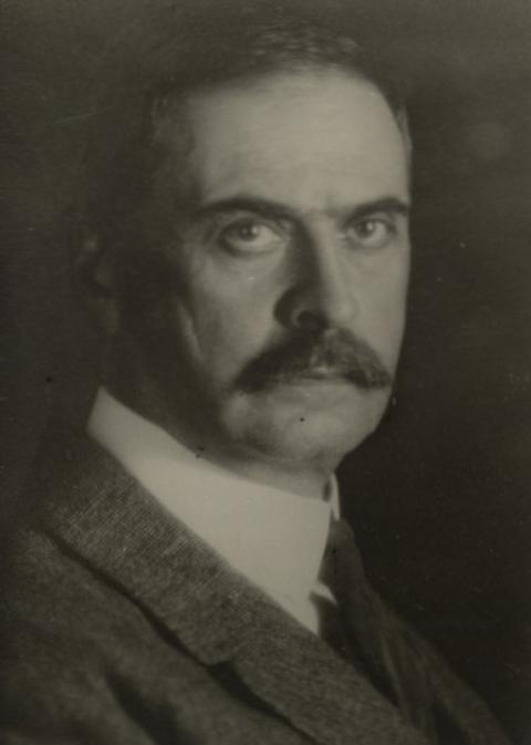 Karl Landsteiner en 1910.