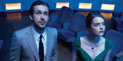 "Ryan Gosling y Emma Stone en ""La La Land."""