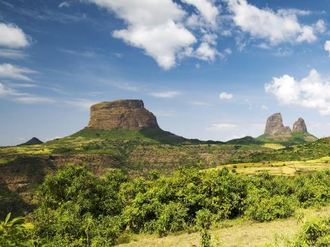 Haz una caminata por el Parque Nacional de las Montañas Simien de Etiopía.