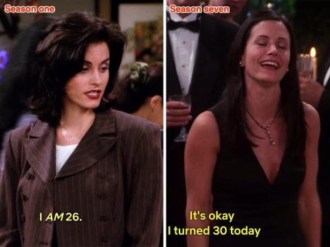 Monica en 'El del factor lío' y 'En el que todos cumplen treinta'.