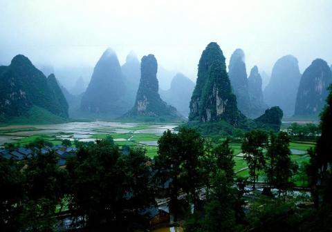 Montañas Guilín en China