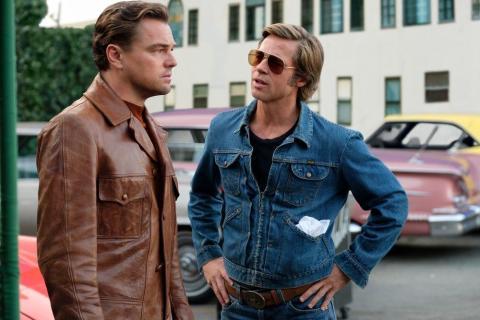 Leonardo DiCaprio y Brad Pitt en Érase una vez... en Hollywood