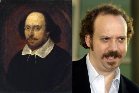William Shakespeare y Paul Giamatti.