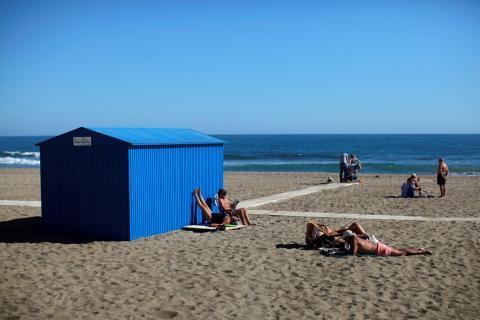 La playa de Fuengirola en Málaga.