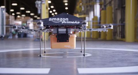 El primer dron utilizado por Prime Air.