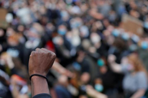 Protestas en Boston del movimiento 'Black lives matter' por la muerte de George Floyd bajo custodia policial