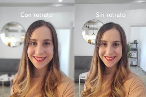 Retrato selfie Samsung Galaxy Z Flip