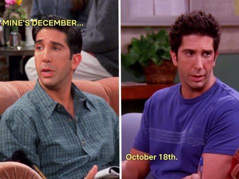 Ross en 'El de la nueva novia de Joey' y 'El de cuando Emma llora'.