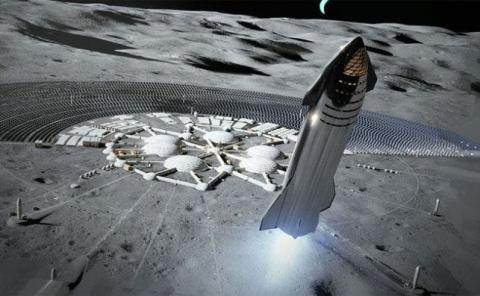 El cohete Starship puede ayudar a la colonización de la Luna.