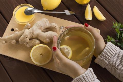 Te de jengibre y limón