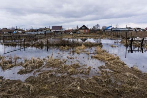 El río Techa, donde el complejo nuclear de Mayak arrojó desechos de combustible nuclear.