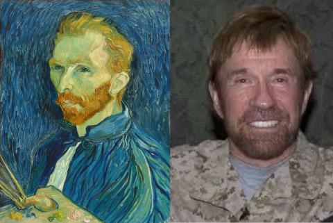 Vicent VanGogh y Chuck Norris