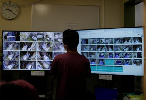 Videocámaras en las UCI japonesa durante la crisis del coronavirus.