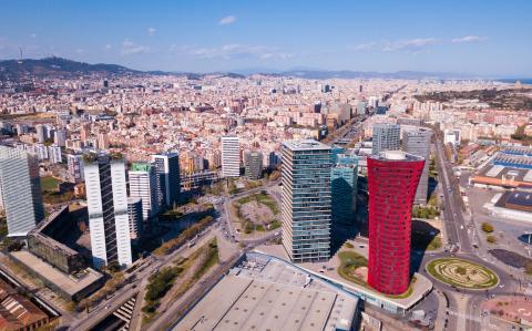 Vista aérea de L'Hospitalet de Llobregat (Barcelona)