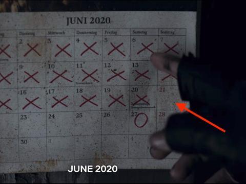 El calendario que Jonas toca en las escenas de apertura de la segunda temporada.