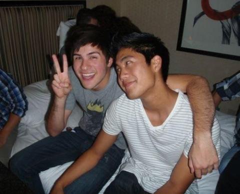 Los 'youtubers' Anthony Padilla (izda.), y Ryan Higa (dcha.).