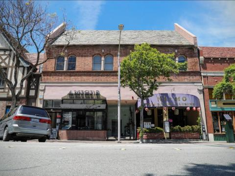 YouTube's first headquarters was above Amici's East Coast Pizzeria in San Mateo, California.