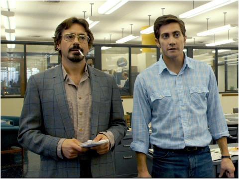 """Robert Downey Jr. y Jake Gyllenhaal en """"Zodiac""""."""