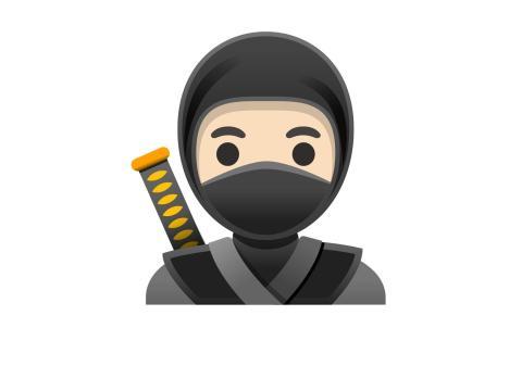 Ninja (con diferentes tonos de piel)