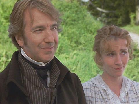 """Alan Rickman y Emma Thompson participaron en 1995 en """"Sentido y sensibilidad""""."""