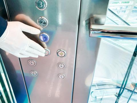 8. Touch-free elevators and UV disinfection