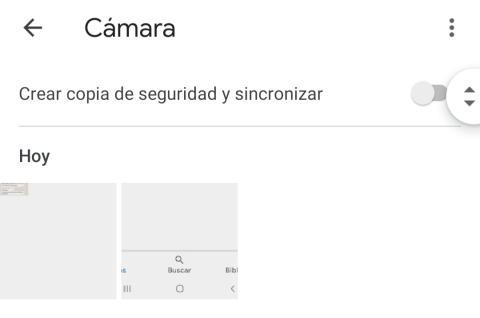 Activar copia de seguridad en Google Fotos