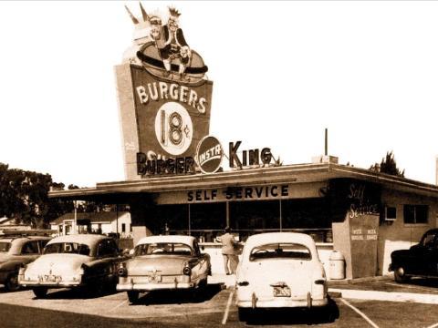 Burger King en los años 50.