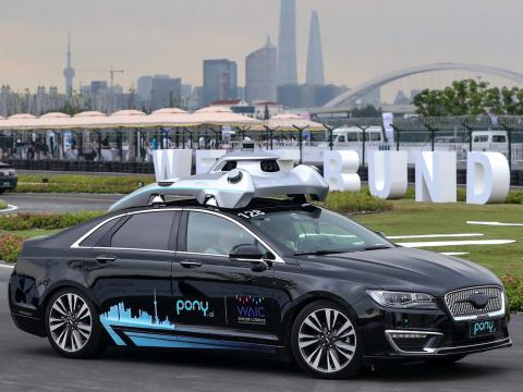 Un coche de Pony.ai en China en 2018.