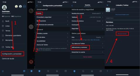 Como revocar apps de terceros en Twitter
