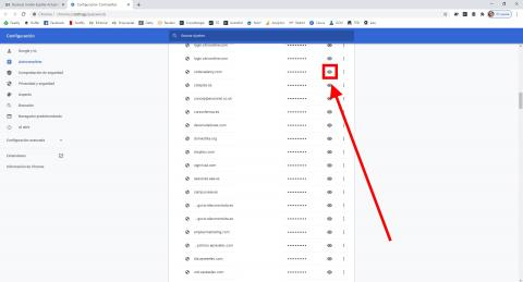 Como ver las contraseñas en Google Chrome