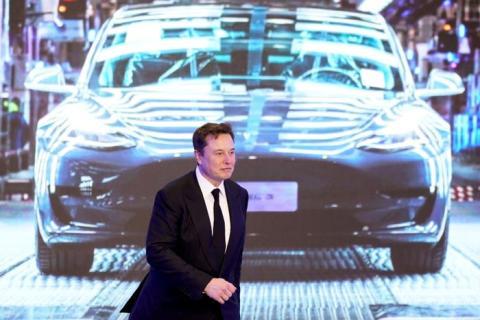 Elon Musk en la ceremonia de apertura del programa Model Y de Tesla, hecho en Shanghai, China, el 7 de enero de 2020.