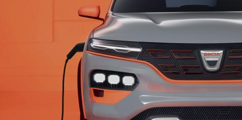 Detalle del Spring, el vehículo eléctrico de bajo coste de Dacia