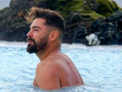 Actor Zac Efron in the new travel show he created with Netflix.