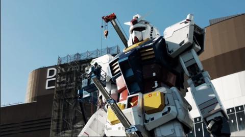 Gundam, el robot gigante construido por ingenieros japoneses.