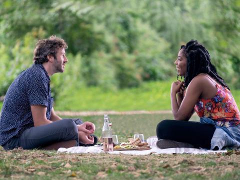 Chris O'Dowd y Jessica Williams en 'La increíble Jessica James'
