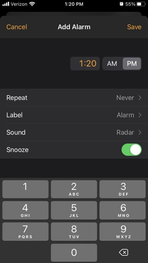 It's much easier to set alarms.