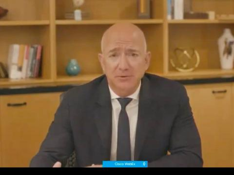 Jeff Bezos crumpled under pressure on whether Amazon will continue to block customer donations to SPLC-designated extremist groups, saying it's an 'imperfect system'