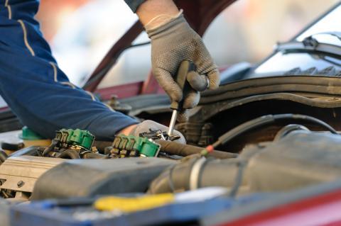 Limpieza de los inyectores de combustible.