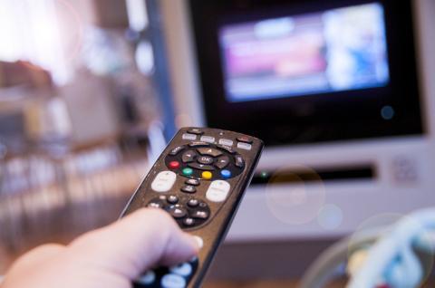 Mando de televisión.