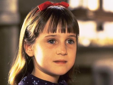 Mara Wilson en 'Matilda'.