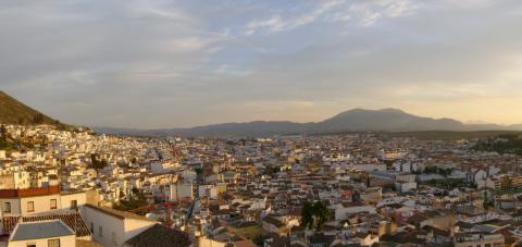 Martos (Jaén), vista desde la Fortaleza de la Villa