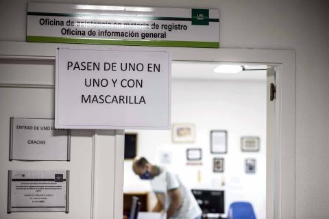 Medidas de seguridad en la Universidad Autónoma de Madrid durante la pandemia del coronavirus.
