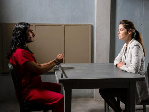 Mehdi Dehbi y Michelle Monaghan coprotagonizan 'Mesías'.