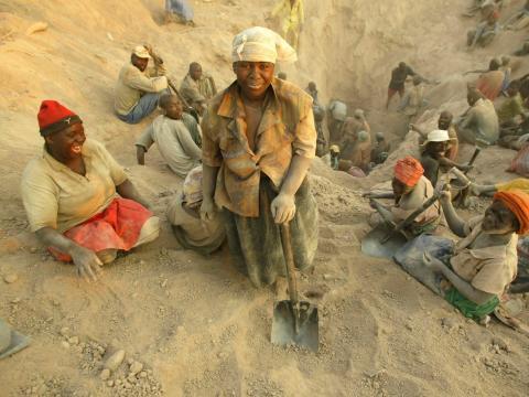 Miners dig for diamonds in Marange, eastern Zimbabwe. Tsvangirayi Mukwazhi-File/AP Photo