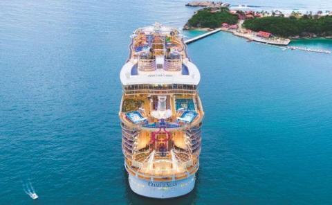 El Oasis of the Seas está fondeado en Miami