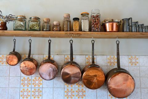 Objetos de cobre.