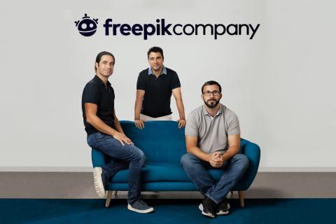 Pablo Blanes, Joaquín Cuenca, Alejandro Sánchez, fundadores de Freepik Company.