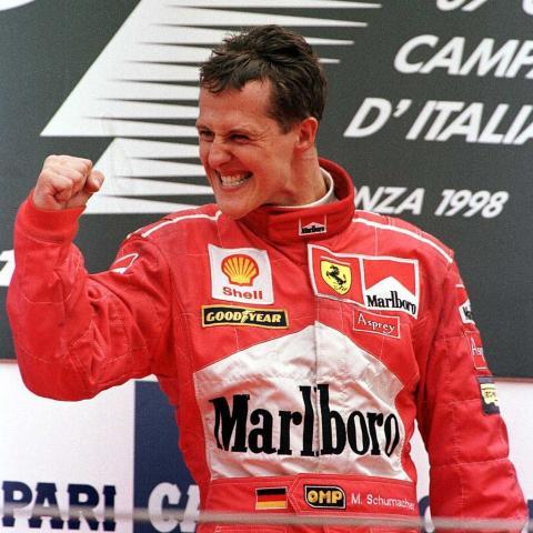 El piloto alemán Michael Schumacher (1998).