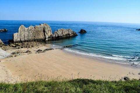 Playa de Arnia, en Piélagos (Cantabria)